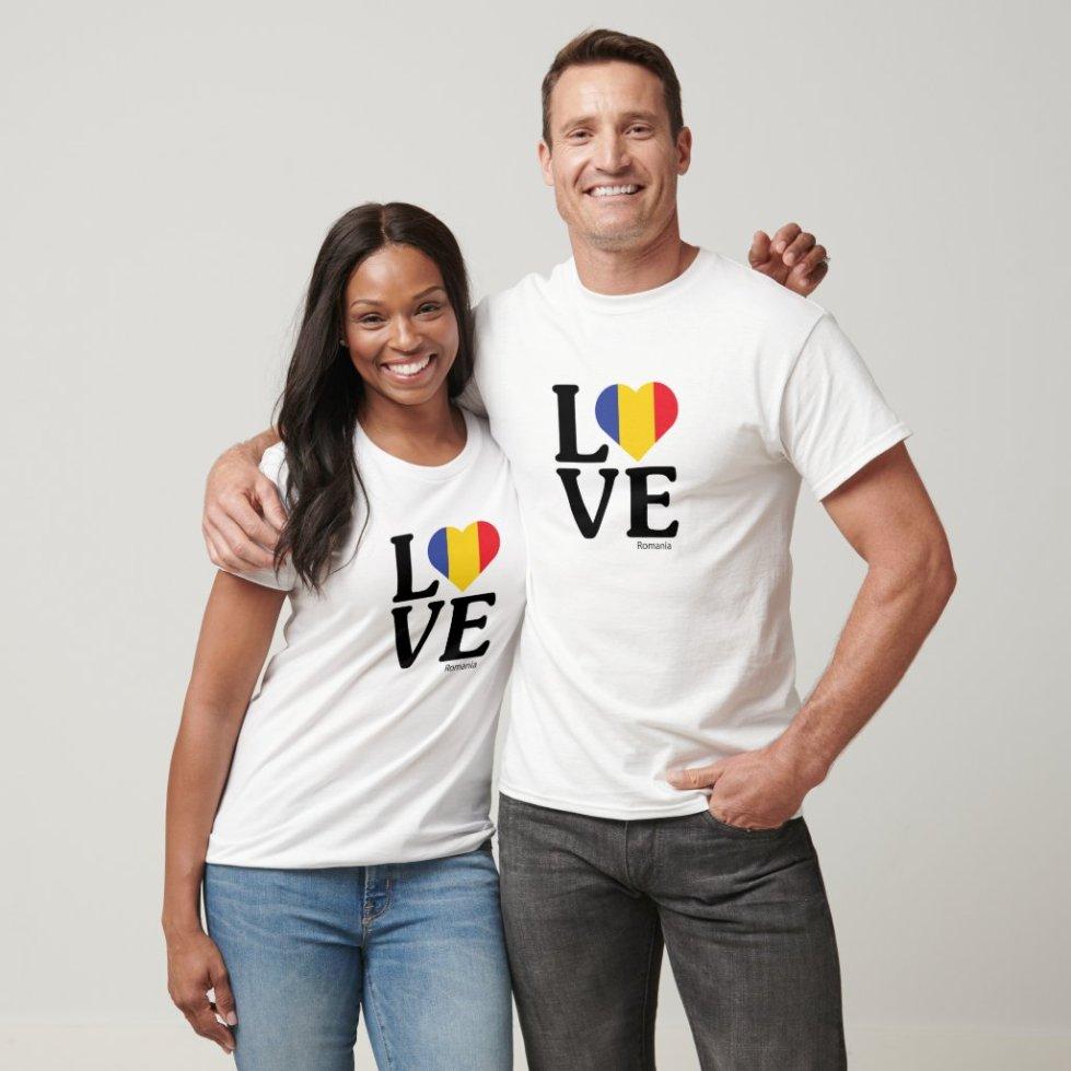 Love Romania Couple T-Shirt