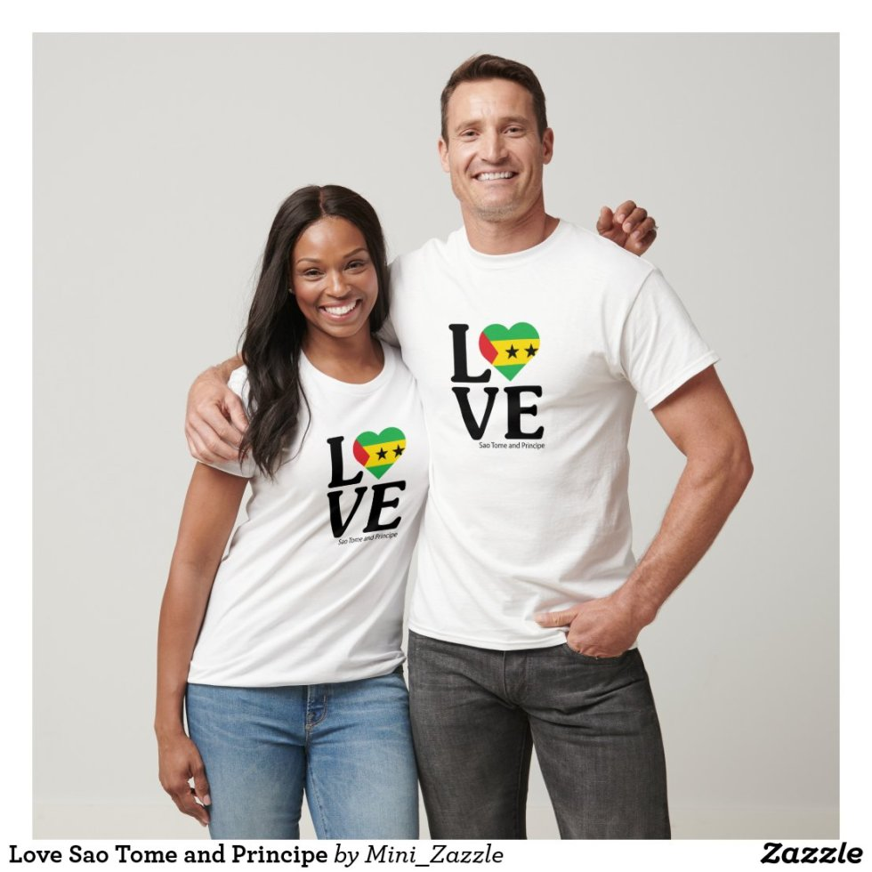 Love Sao Tome and Principe Couple T-Shirt