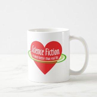 Love Science Fiction mug