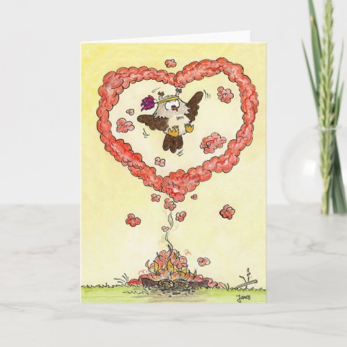 Love signal greeting card by Nicole Janes