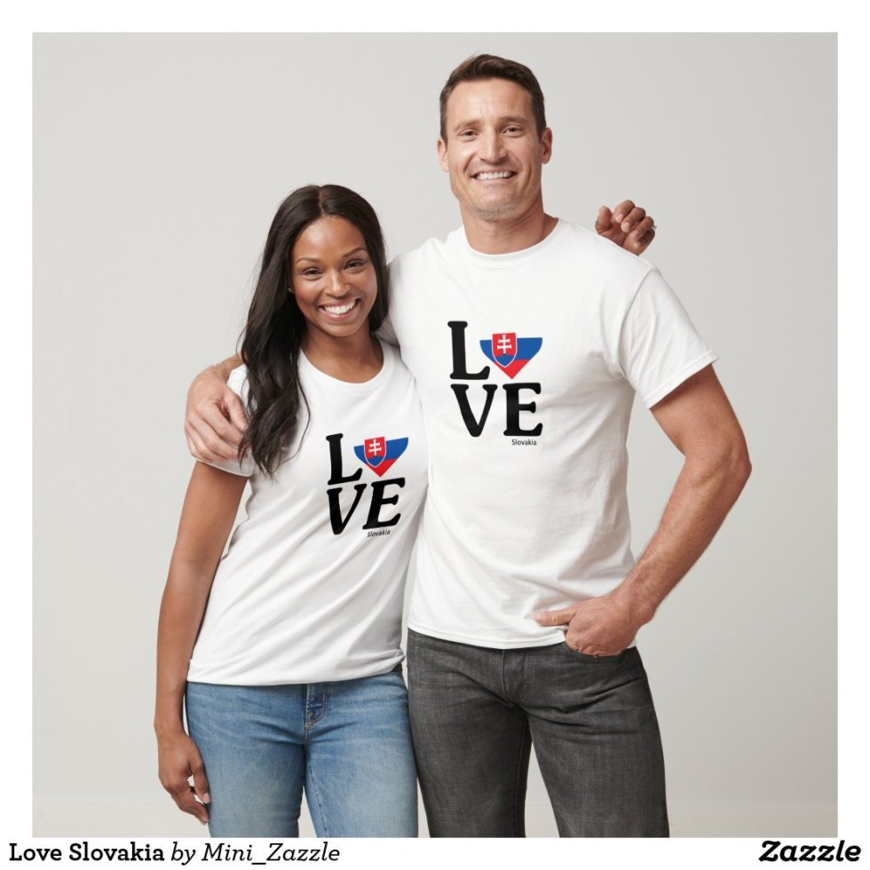 Love Slovakia Couple T-Shirt