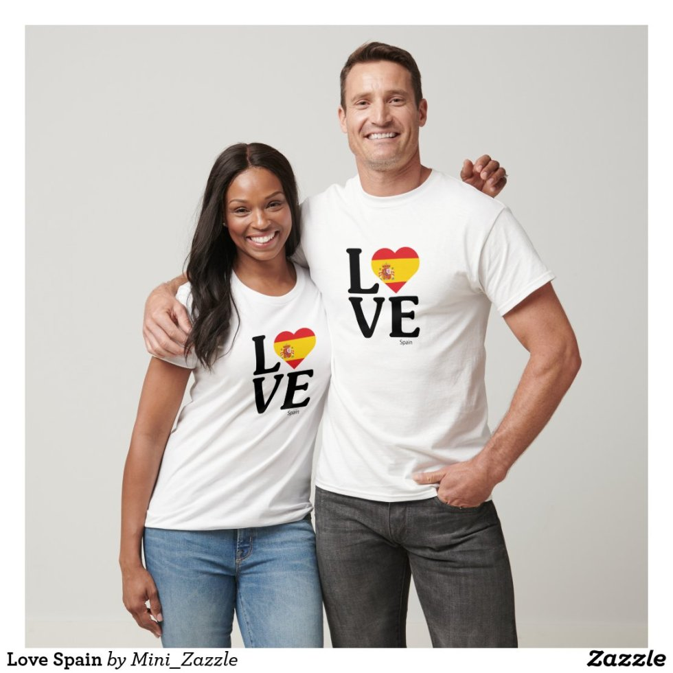 Love Spain Couple T-Shirt