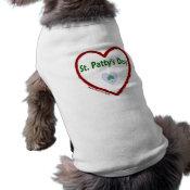 Love St. Patty's Day Doggie Tshirt