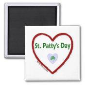 Love St. Patty's Day Fridge Magnet