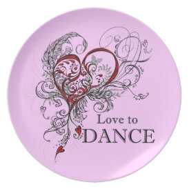 Love to Dance (Black) Plate