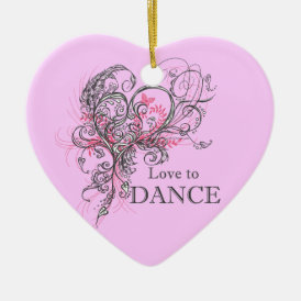 Love to Dance Heart Ornament