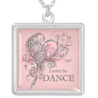 Love to Dance Necklace (pink)