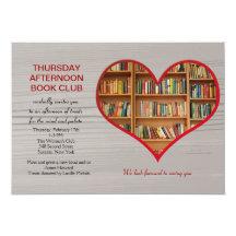Love to Read Book Club Invitation