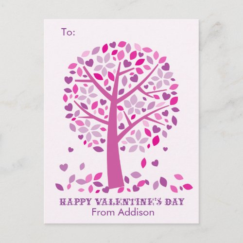 Love Tree Kids School Classroom Valentine Cards
