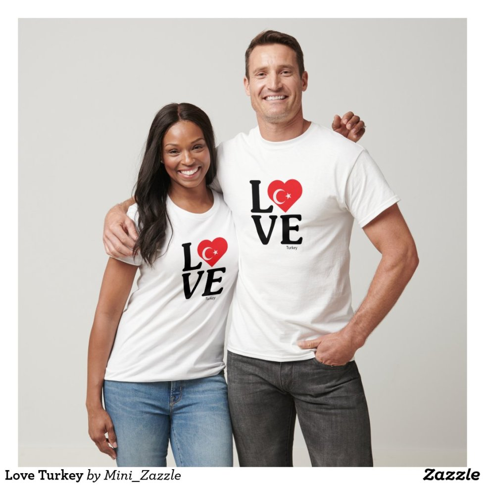 Love Turkey Couple T-Shirt