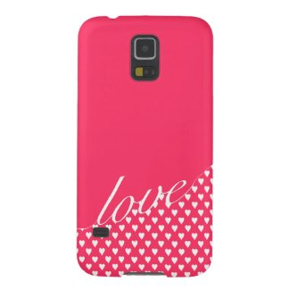Love with love hearts pattern galaxy s5 covers