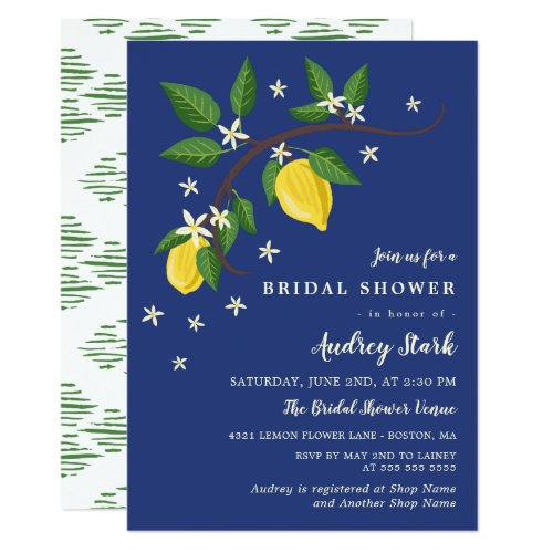 Lovely Lemon Branch - Floral Bridal Shower Card