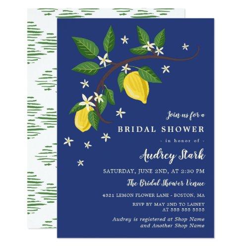 Lovely Lemon Branch - Floral Bridal Shower Card