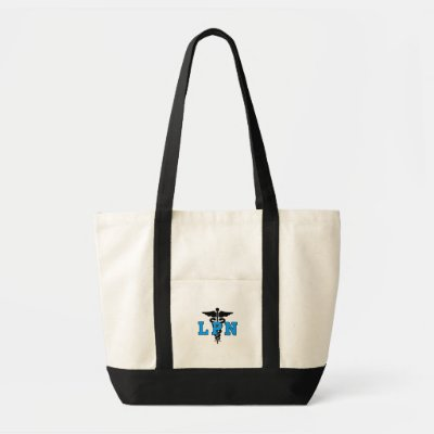 LPN Nurse Medical Symbol Tote Bag With Pocket