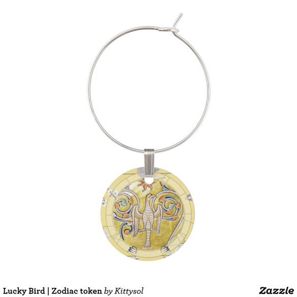 Lucky Bird | Zodiac token Wine Charm