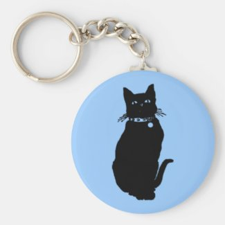 Lucky Black Cat Keychain