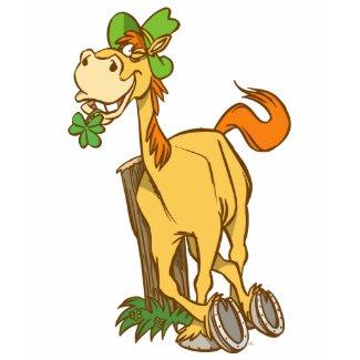 Lucky Cartoon Horse-St Patrick's Day Women T-shirt shirt