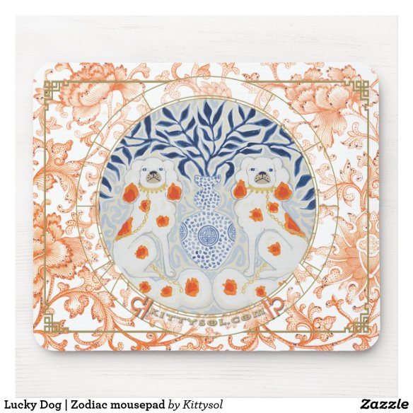 Lucky Dog | Zodiac mousepad