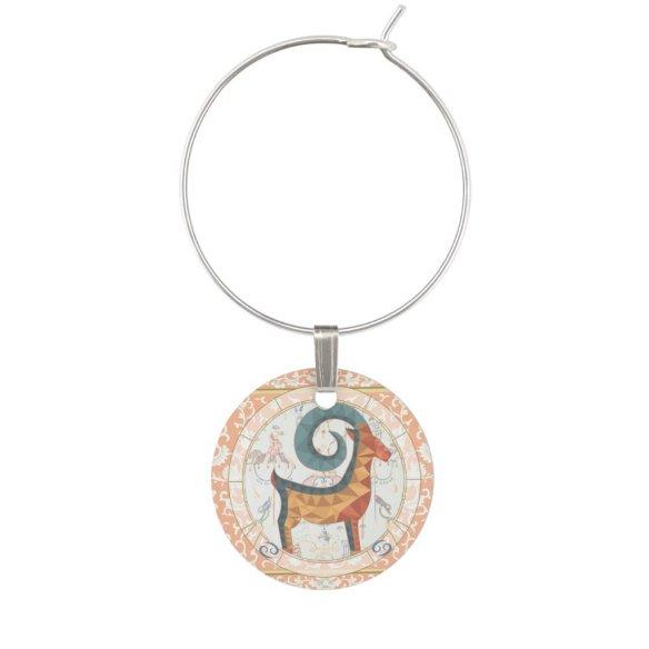 Lucky Goat | Zodiac token Wine Charm