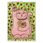❤️ Lucky in Love: Pink Neko with Hearts
