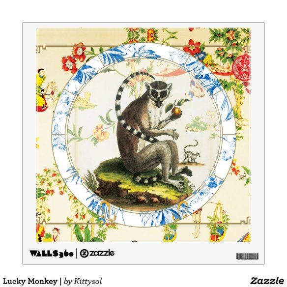Lucky Monkey | wall art Wall Decal