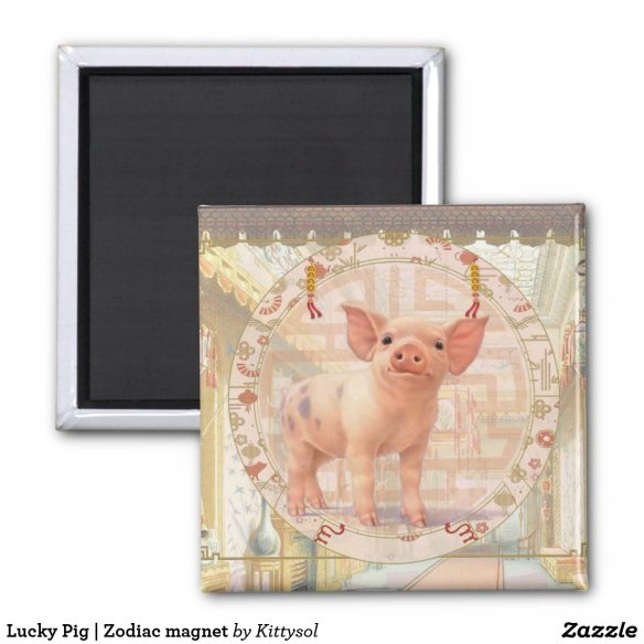 Lucky Pig | Zodiac magnet