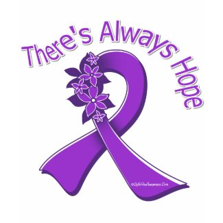 Lupus There's Always Hope Floral shirt