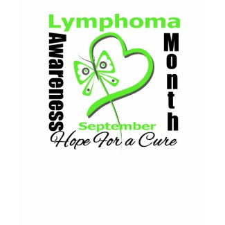 Lymphoma Awareness Month Butterfly Heart shirt