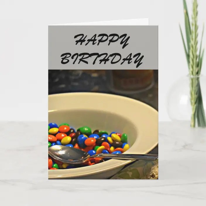 M M Birthday Card Zazzle Com