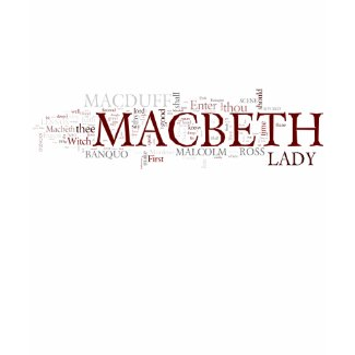 Macbeth Word Cloud shirt
