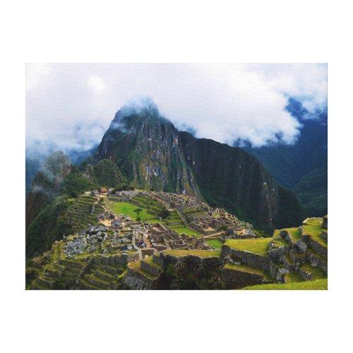 Machu Picchu On High Canvas Print