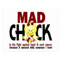 Mad Chick In The Fight Head And Neck Cancer Postcard