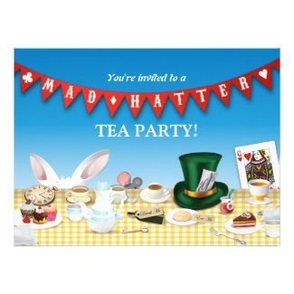 Mad Hatter Tea Party Personalized Invite