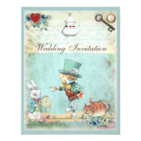 Mad Hatter Wonderland Wedding Card