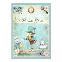 Mad Hatter Wonderland Wedding Thank You Card