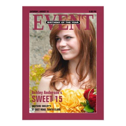 """Magazine """"Birthday of the Year"""" Photo Sweet 15"""