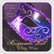 Magical Evening Purple Masquerade Sticker