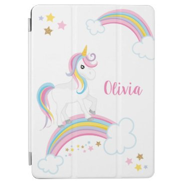 Magical Rainbow Unicorn Personalized iPad Air Cover
