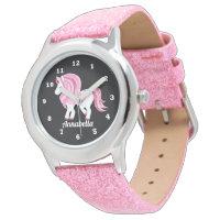 Magical Unicorn add name girls watch