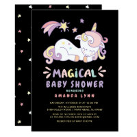 Magical Unicorn Baby Shower Invitation