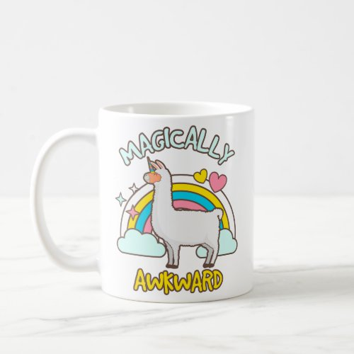Magically Awkward Llamacorn Llama Unicorn Lovers Coffee Mug