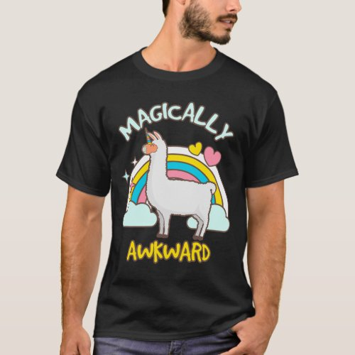 Magically Awkward Llamacorn Llama Unicorn Lovers T-Shirt