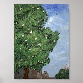 Magnolia Tree At City Park print