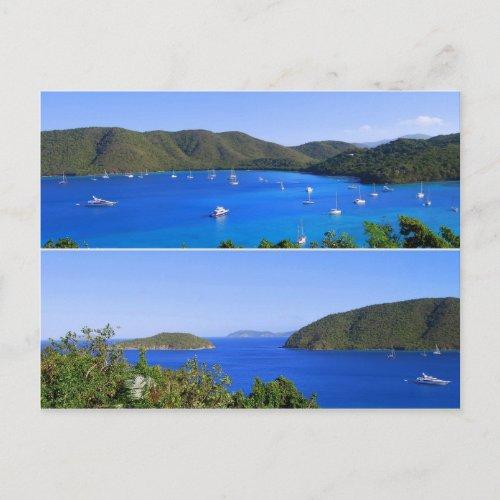 Maho Bay Collage, St. John, U.S.V.I. Postcard postcard