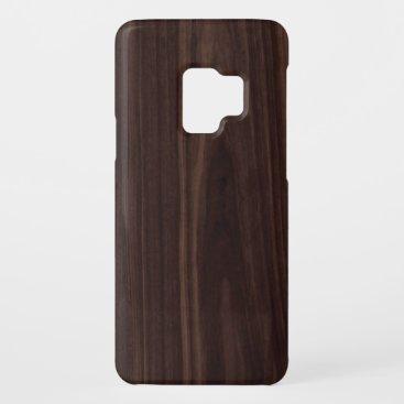 Mahogany Dark Wood Grain Texture Case-Mate Samsung Galaxy S9 Case