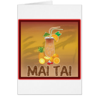 Mai Tai Cocktail Card