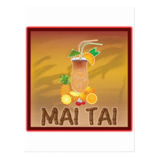 Mai Tai Cocktail Post Cards