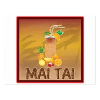 Mai Tai Cocktail Postcard
