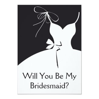 Maid of Honor Or Bridesmaid 5x7 Paper Invitation Card