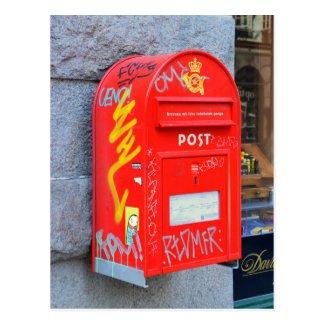 Mailbox in Copenhagen, Denmark Postcard